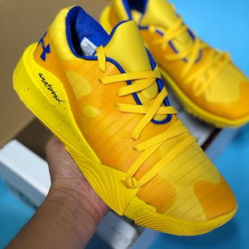 HCXX Under Armour 2018 Mesh Casual Basketball Shoes Yellow