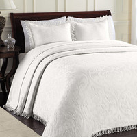 CLOSEOUT! All Over Brocade Bedspreads | macys.com