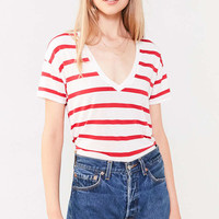BDG Teddy V-Neck Tee - Urban Outfitters