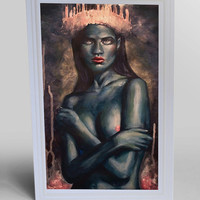 The Blue Queen Blank Greeting Card
