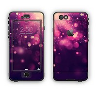 The Dark Purple with Desending Lightdrops Apple iPhone 6 Plus LifeProof Nuud Case Skin Set