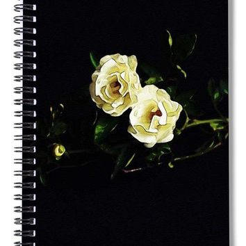 White Roses, Ca 2017, By Adam Asar - Spiral Notebook