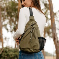 Microfiber Sling Backpack
