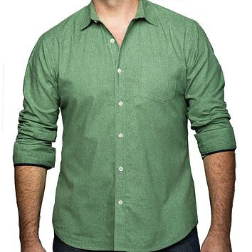 Green Japanese Wave Print Shirt - Kendall Size XXL Available