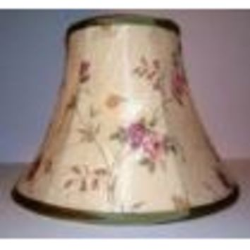 68974 - Cream Floral With Trim Table Lamp Shade