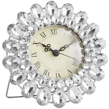 Clear Gems Mini Desk Clock
