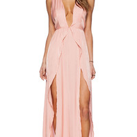 THE JETSET DIARIES Wavelength Maxi Dress in Peach