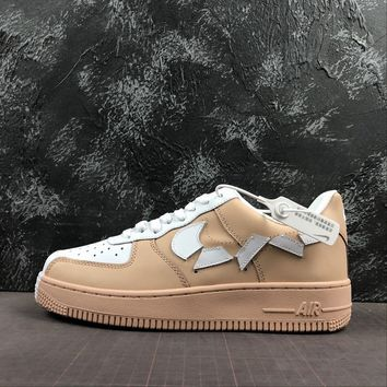 Nike Air Force 1 07 Low Khaki White Sneakers - Best Deal Online