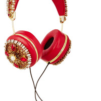 Dolce & Gabbana - + Frends embellished leather headphones