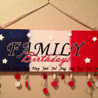 Family birthday board with tags