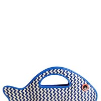 kate spade new york 'splash out - fish' straw tote