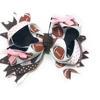 Football and Volleyball Boutique Hair Bows