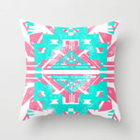Aztec Throw Pillow by LookHUMAN