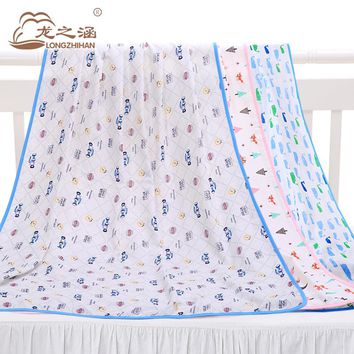Baby Blankets Newborn Muslin Cotton Top Brand Swaddle Blanket Infant Wool Summer Quilt Wrap Bedding Kids Carseat Cover