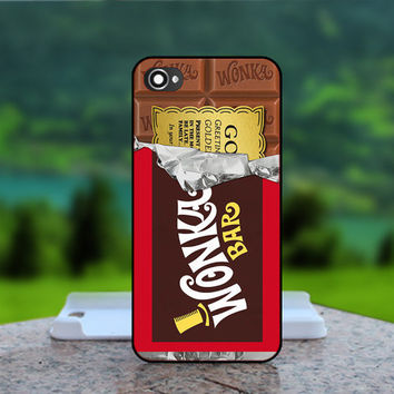 Golden Ticket Wonka Bar Choco  - Photo Print in Hard Case - For iPhone 4 / 4s Case , iPhone 5 Case - White Case, Black Case (CHOOSE OPTION )