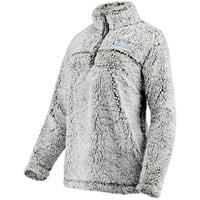 UCLA Bruins Women's Sherpa Super Soft Quarter Zip Pullover Jacket - Gray