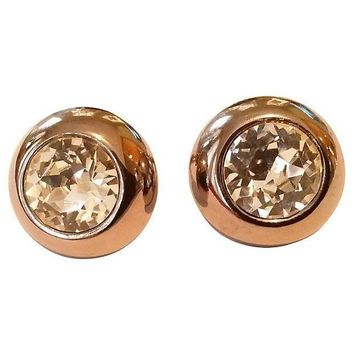 Pre-owned Lanvin Paris Crystal Headlight Earrings