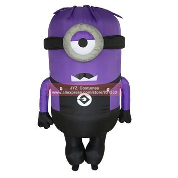 JYZCOS Inflatable Minion Halloween Costumes Adult Despicable Anime Cosplay Mascot Purim Fancy Dress Cartoon