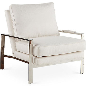 Mesa Chair, White Sunbrella - Accent Chairs - Chairs - Living Room - Furniture | One Kings Lane