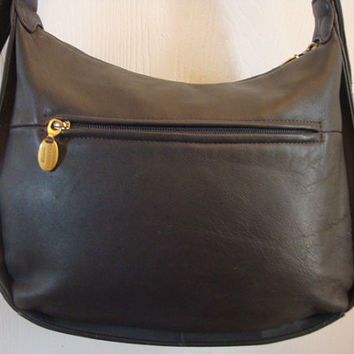 Free Ship vintage STONE MOUNTAIN gray leather Shoulder Hobo Medium Drs.bAG Purse handbag