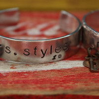 One Direction Cuff Bracelet Mrs Harry Styles, Liam Payne, Niall Horan, Louis Tomlinson, Zayn Malik