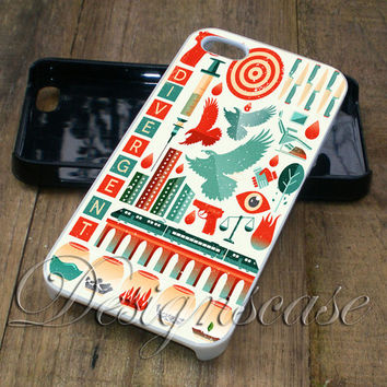 Divergent Collage Art - iPhone 4/4S, iPhone 5/5S/5C/6, Samsung Galaxy S3/S4/S5 Cases