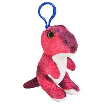 Wildlife Tree T-Rex Plush Tyrannosaurus Rex 3.5 Inch SDinosaur Stuffed Animal Backpack Clip Toy Keychain Wildlife Hanger Party Favor Pack of 12