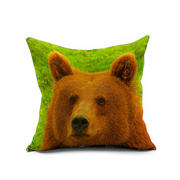 Cotton Flax Pillow Cushion Cover Animal   DW034
