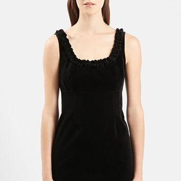 Women's Topshop Unique 'Angie' Velvet Shift Minidress,