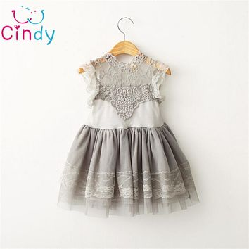 Children Clothing Girl Dress Vintage Ruffles Sleeve Clothes Princess Girl Costumes