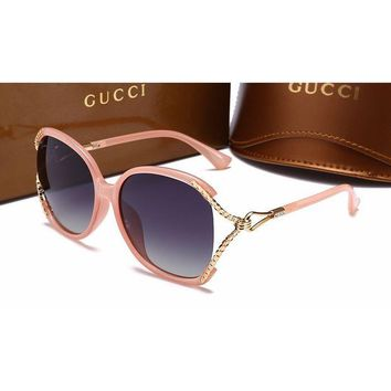 Gucci Fashion Women Casual Sun Shades Eyeglasses Glasses Sunglasses Pink G