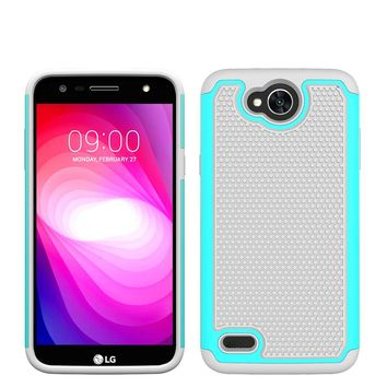 Heavy Duty Hybrid Armor Case Silicone TPU & PC Shockproof Impact Protective Hard Cover For LG X Power 2/LV7/K10 Power/X Charge @