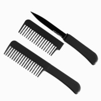 """Bitch Barbie"" Secret Knife Comb Black"