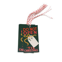 Do Not Open Until Christmas Gift Tags from Rifle Paper Co.