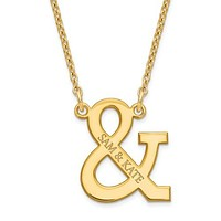 925 Sterling Silver GP Ampersand Custom Couple Name Necklace