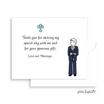 First Communion Thank You Notes - Boy