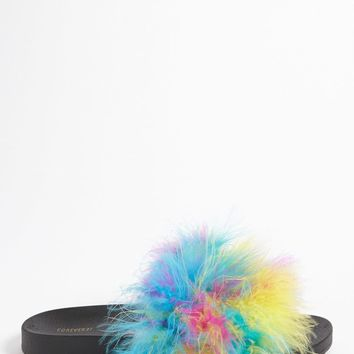 Feather Slide Sandals