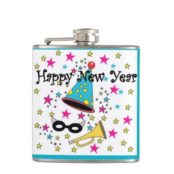Happy New Year Hip Flask
