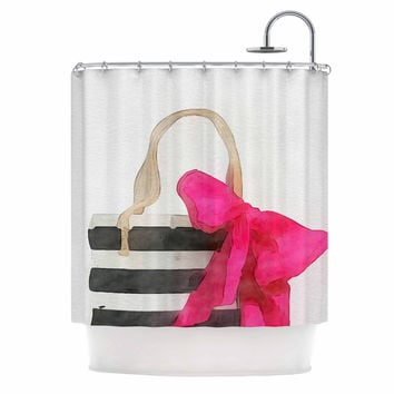 "Oriana Cordero  ""French Outing"" Black Pink Shower Curtain"