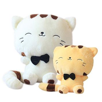 45CM Lovely Big Face Smiling Cat Stuffed Plush Toys Soft Animal Dolls Factory Lowest Price Best Gifts for Kids High Quality