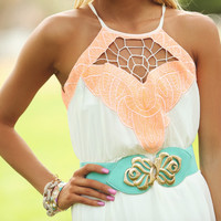 Caught in Her Web Maxi Dress