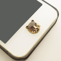 1PC Retro Leopard iPhone Home Button Sticker by StudioHappyFish