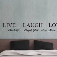 Live well, Laugh often, Love much Vinyl wall art Inspirational quotes and saying home decor decal sticker steamss