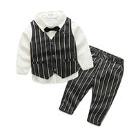 2016 Fashion Baby Boy Clothes Sets Gentleman Suit Toddler Boys Clothing SetS Long Sleeve Kids Boy Clothing Set Christmas Outfits