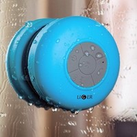 Waterproof Shower Speaker, Liger Waterproof Wireless Bluetooth Shower Speaker & Hands-free Speakerphone - Exclusive LED Light Effects, Micro USB Charger And Powerful Crystal Clear Premium Sound Compatible With All Bluetooth Devices, Apple iPhone 6/6 Plus/5