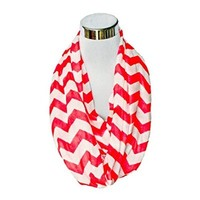BAXBO Women's Jersey Infinity Flask Scarf (Hidden 8 Ounce Bladder) Rivalry Cardinal/White