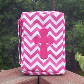 Pink Chevron Bible Cover