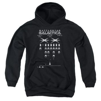 Bsg - Galactic Invaders Youth Pull Over Hoodie