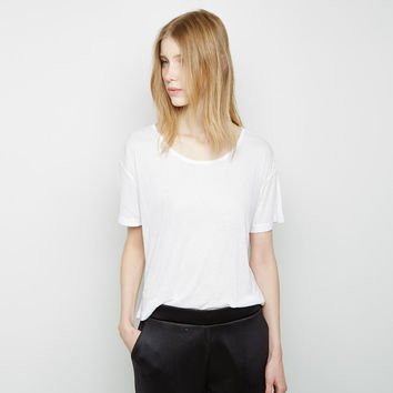 Oversized Ribbed Melange Tee by T by Alexander Wang