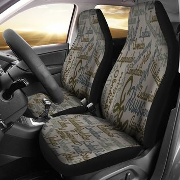 Custom-Made Holy Bible Books Grey Car Seat Cover